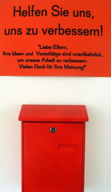 Briefkasten für unsere Eltern